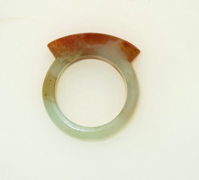 Image for Jade Saddle Ring size 9