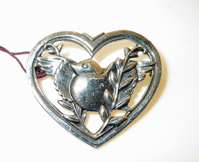 Image for Sterling Silver Love Bird Brooch
