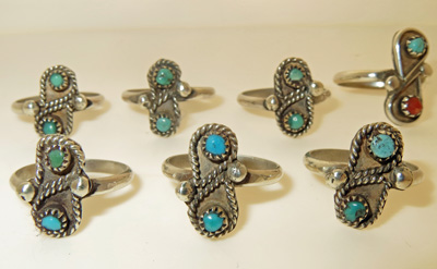 Image for Lot of 7 Sterling Silver rings
