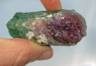 Image for Large Watermelon Tourmaline Mineral Crystal Specimen 570 carats