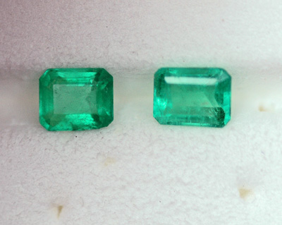 Image for Natural Colombia Emerald Matched Pair 1.10 tcw OLD STOCK - GFTP