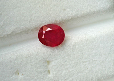 Image for Natural Ruby with AGL certificate 0.87 ct - GFTP