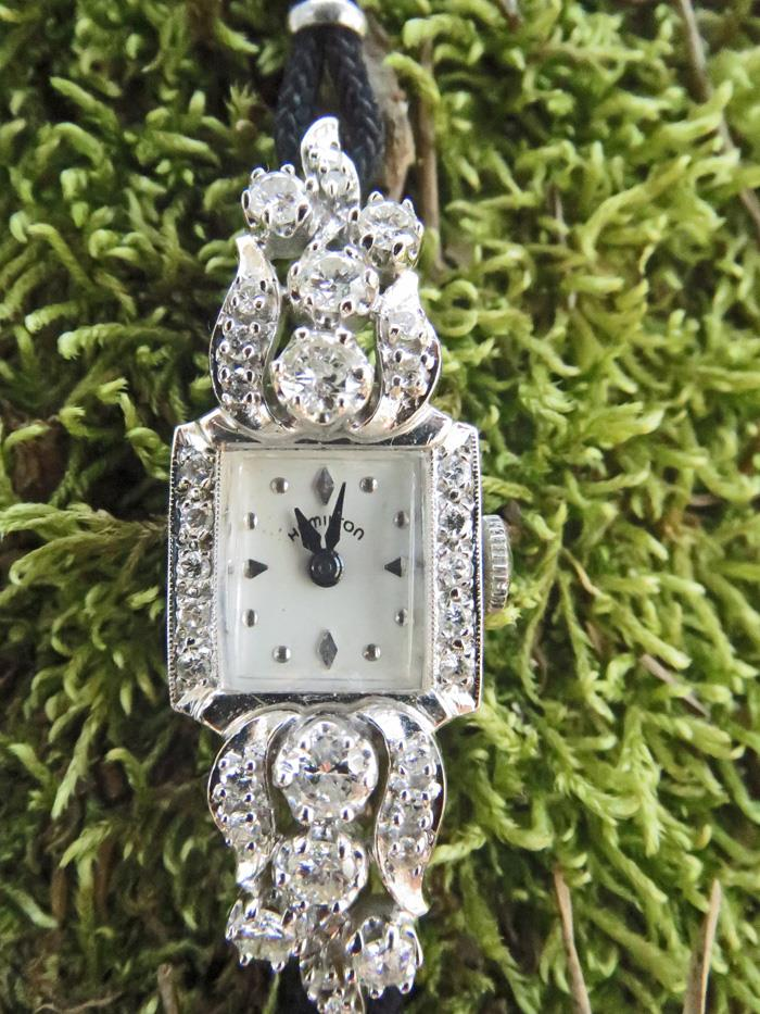 Image for HAMILTON 14k Gold Diamond 1.50 tcw Ladies Watch