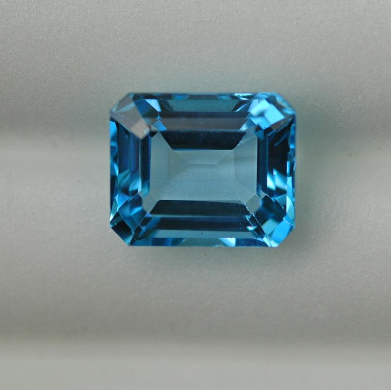Image for Swiss Blue Topaz 8.08 Carat Emerald Cut