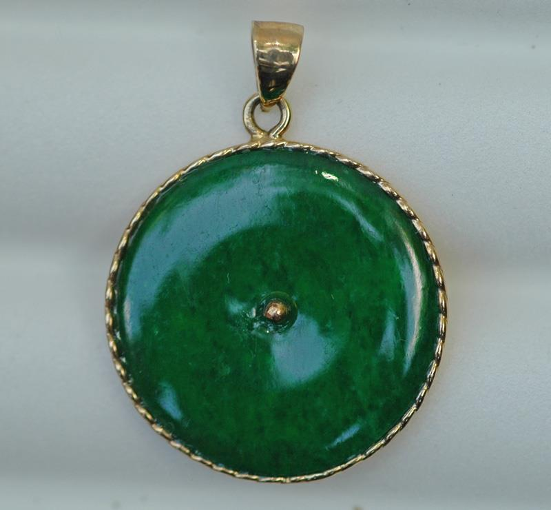 Image for Imperial Jadeite 18K gold Pendant