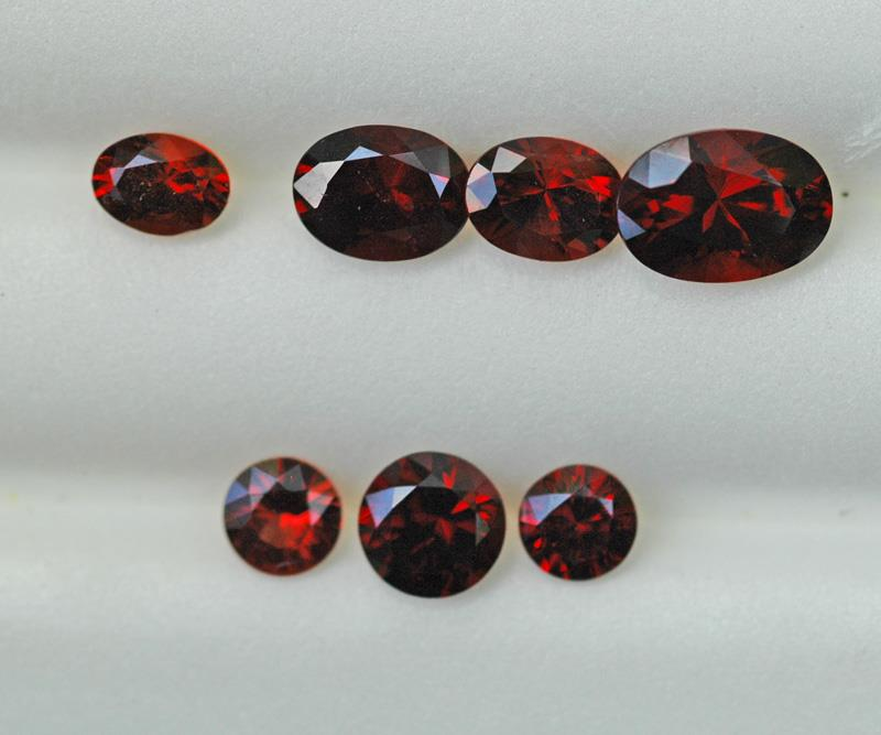 Image for Nigeria natural Spessartite Garnet Lot Red 7.42 TCW