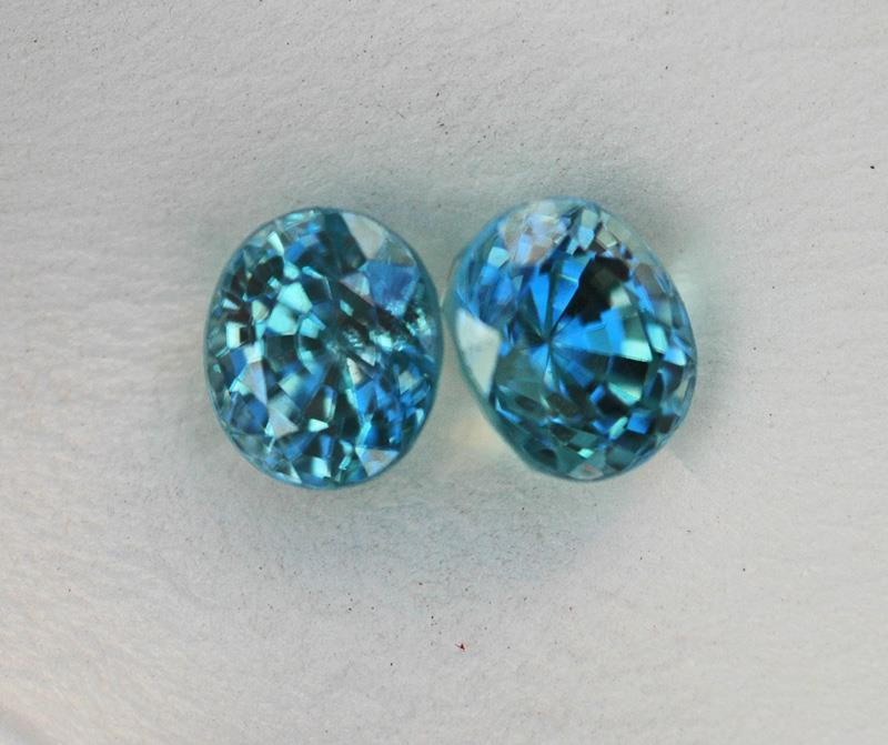 Image for Natural Vietnam Blue Zircon Pair 4.22 TCW