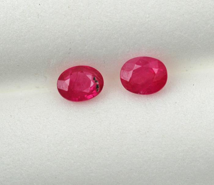 Image for South East Asia Natural Ruby Pair 0.865 TCW