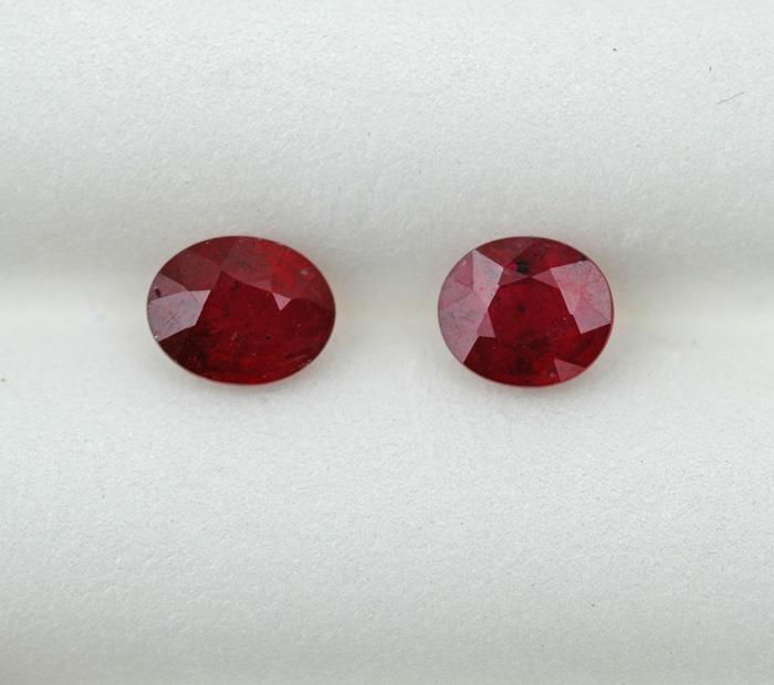 Image for Tanzania natural Ruby Pair 1.51 Tcw