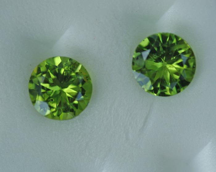 Image for Natural Pakistan Peridot Pair 5.16 tcw
