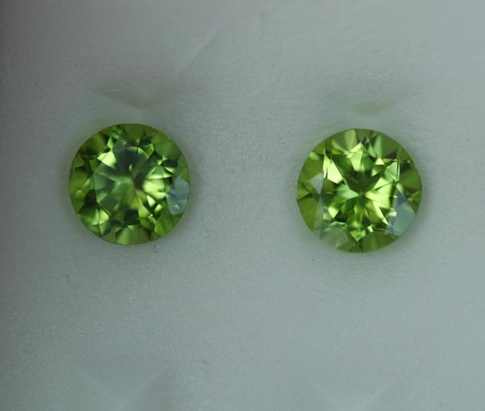 Image for Natural Pakistan Peridot Pair 3.99 tcw