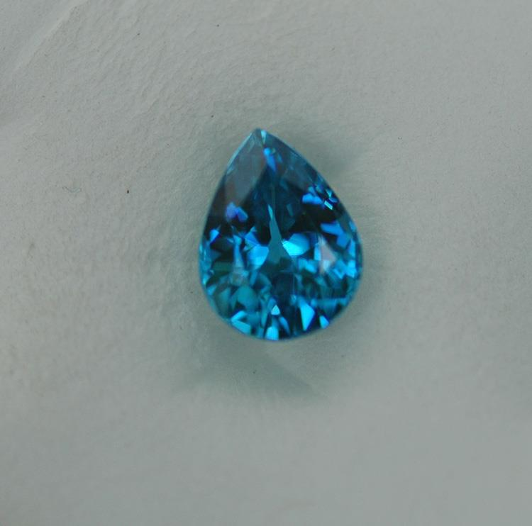 Image for Cambodia natural rich Blue Zircon 3.12 carat