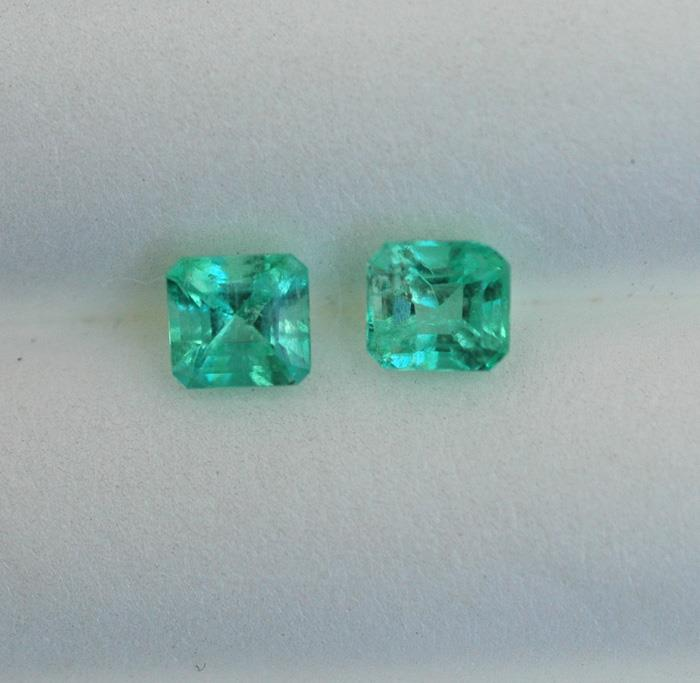 Image for Natural Colombian Emerald pair 1.05 tcw.