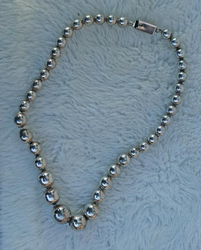 Image for Sterling Silver Navajo Pearl Style Necklace 16 inch