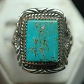 Image for Native American Old Pawn Sterling Silver Ring size 11 1/2