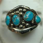 Image for Native American Old Pawn Sterling Silver Ring size 9