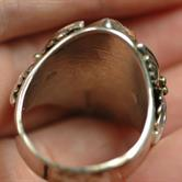 Image for Native American Old Pawn Sterling Silver Ring size 14