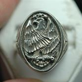 Image for Native American Old Pawn Sterling Silver Ring size 11.5