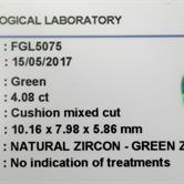 Image for Sri Lanka Natural Green Zircon 4.08 carat