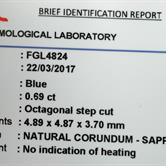 Image for Sri Lanka Unheated Natural Blue Sapphire 0.69 carat